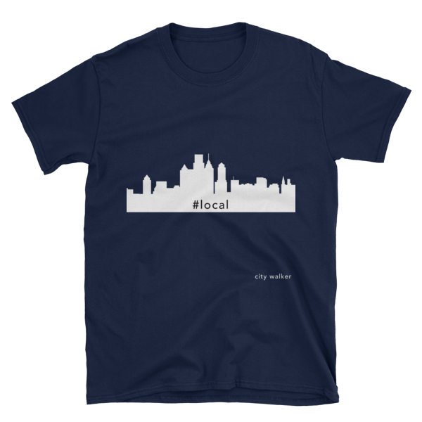 Navy Philadelphia Skyline Local t-shirt