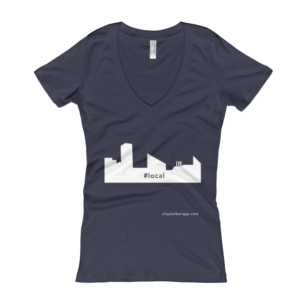 midnight navy Baltimore Local Woman's V-Neck