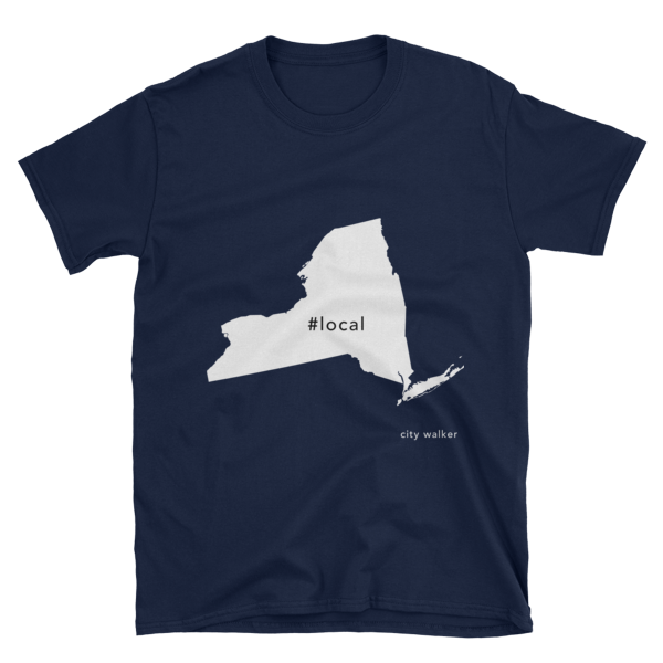 Navy New York State Local t-shirt