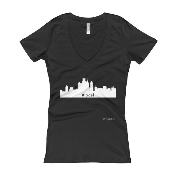 Black New York City Skyline Woman's Local t-shirt