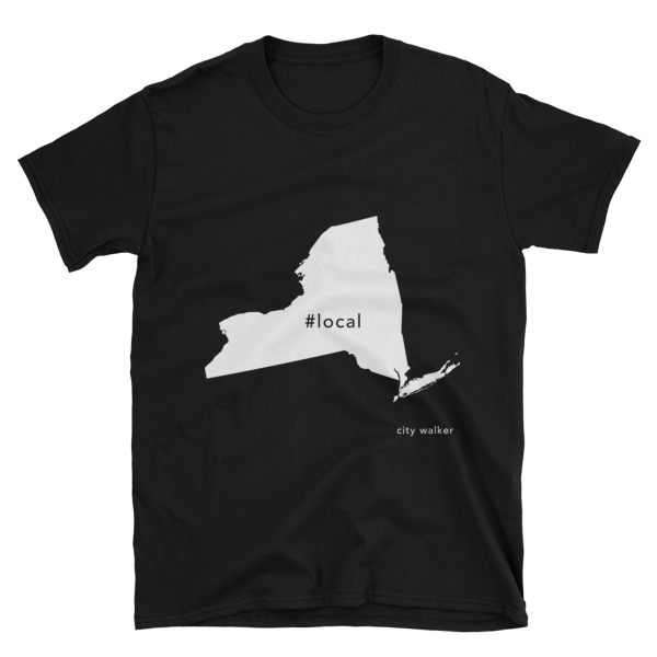 Black New York State Local t-shirt