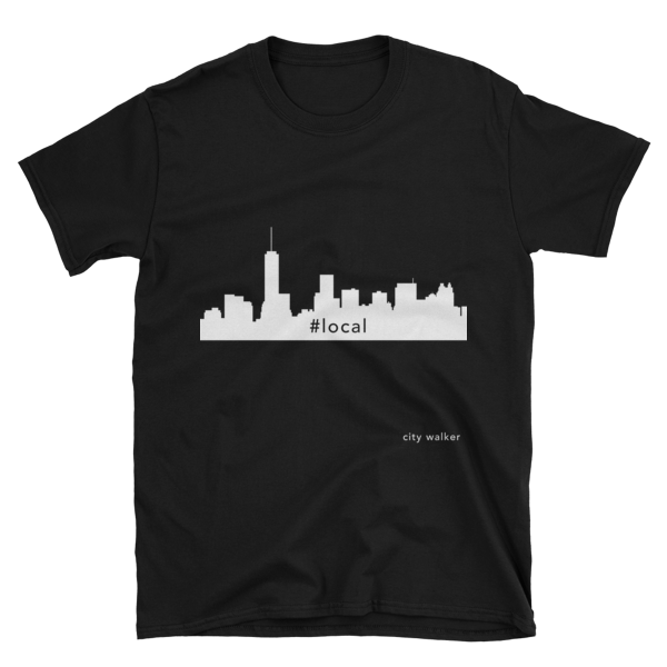 Black New York City Skyline Local t-shirt