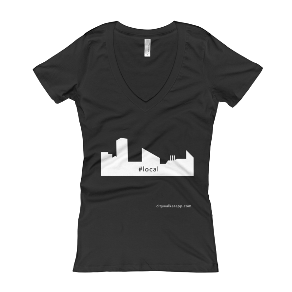 Black Baltimore Local Woman's V-Neck