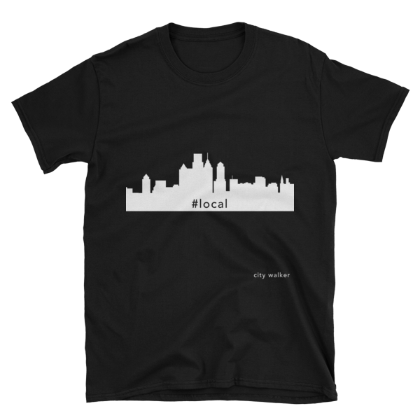 Black Philadelphia Skyline Local t-shirt