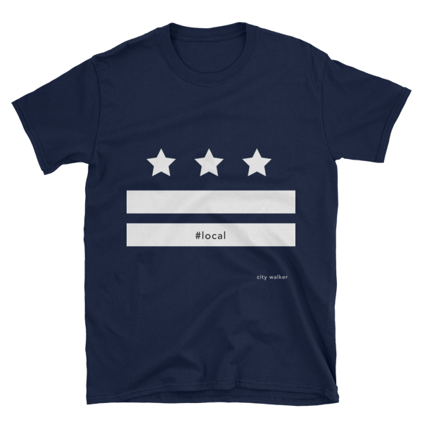 Night Blue DC Local Flag T-shirt